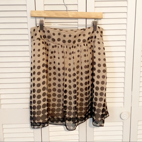 The Limited Dresses & Skirts - The Limited Brown and Tan Polka Dot skirt 8